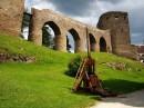 Dobývací stroj trebuchet - hrad Velhartice